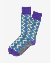 Express Marled Zigzag Dress Socks