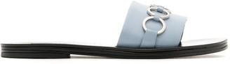 Reinaldo Lourenço embellished leather slides