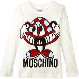 Moschino Mushroom Logo Graphic Tee (Kid) - Cloud - 4