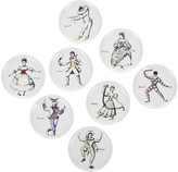 Fornasetti Maschere Set of 8 Coasters