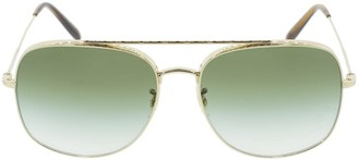 Oliver Peoples Taron Sunglasses - Soft Gold and Olive