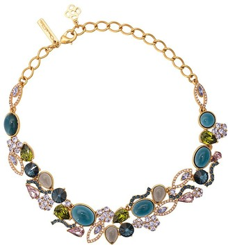 Oscar de la Renta Crystal And Resin Necklace