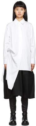 Yohji Yamamoto White Right Side Picked Drop Shirt