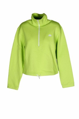 Sundek High Neck Half Zip Sweatshirt Made in Italy - Green - S