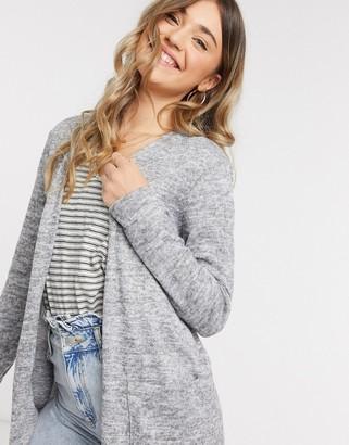 JDY choice long line cardigan in light grey
