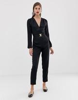 UNIQUE21 tailored jumpsuit with gold buckle detail