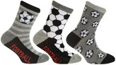 Universal Textiles Childrens/Kids Boys Cotton Rich Football Design Socks (Pack Of 3)