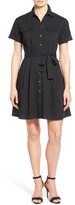 Vince Camuto Belted Short Sleeve Shirtdress (Petite)