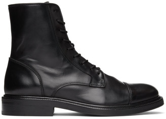 Officine Generale Black Robin Lace-Up Boots