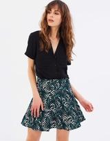 Oasis Tropical Geometric Jacquard Skirt