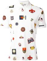 Alexander McQueen badge print polo shirt