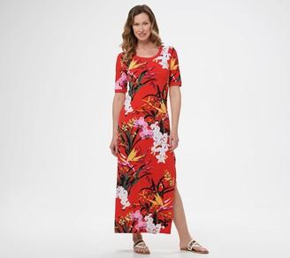 G.I.L.I. Got It Love It G.I.L.I. Regular Short-Sleeve Side Slit Maxi Dress