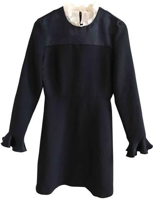 Sandro Navy Polyester Dresses