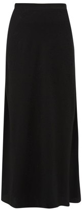 Racil Tallulah Leopard-jacquard Satin Maxi Skirt - Womens - Black