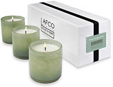 Lafco Inc. Fresh Cut Gardenia Mini Glass Trio, Living Room