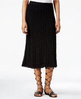 Rachel Roy Crocheted Midi Skirt