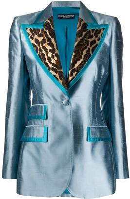 Dolce & Gabbana Leopard Panels Blazer