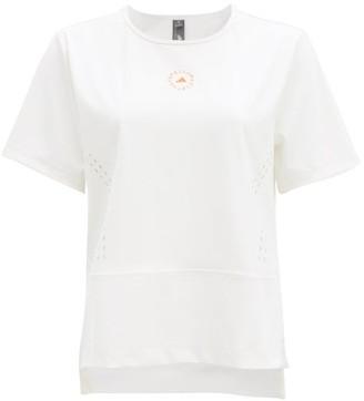 adidas by Stella McCartney Truestar Logo-print Perforated T-shirt - White