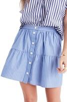 Madewell Women's Pinstripe Tiered Miniskirt