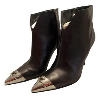Karl Lagerfeld Paris Black Vegan leather Ankle boots