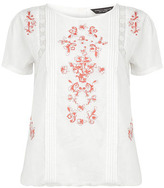 Dorothy Perkins Coral embroidered tee