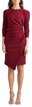 Shoshanna Ralph Puff-Sleeve Ruched Dress