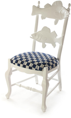 Mackenzie Childs Outdoor Royal Check Fish Chair