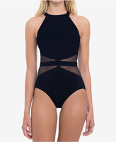 Profile by Gottex High-Neck Tummy-Control Illusion One-Piece Swimsuit Women's Swimsuit