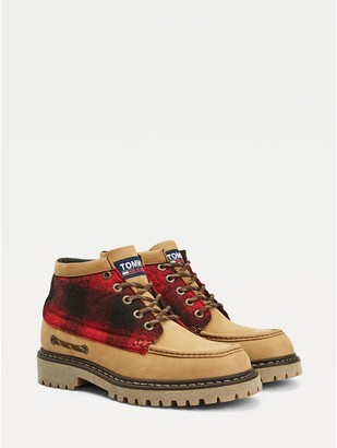 Tommy Hilfiger Buffalo Plaid Leather Boot