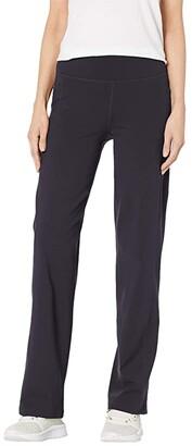 Skechers Go Walk High-Waist Straight Leg Pants (Black) Women's Casual Pants