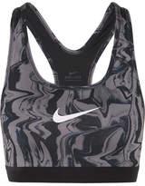 Nike Classic Printed Dri-fit Stretch Sports Bra - Black