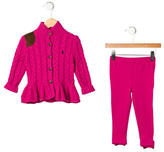 Ralph Lauren Girls' Two-Piece Pant Set