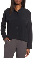 Eileen Fisher Women's Mandarin Collar Boxy Top