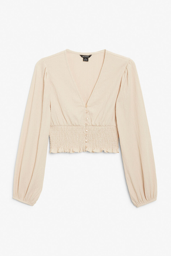 Thumbnail for your product : Monki Shirred waist blouse