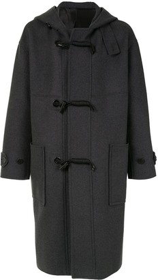 Solid Homme Hooded Duffle Coat