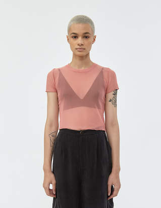 Which We Want Lisa Mesh Tee in Blush Pink