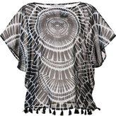 Trina Turk sheer printed blouse