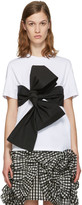 MSGM White Contrast Bow T-Shirt