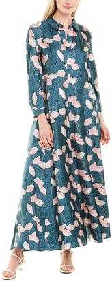 Lafayette 148 New York Siya Silk Maxi Dress