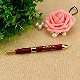DZT1968 Graceful Microblading Single head Pen Tattoo Machine Permanent Makeup Eyebrow Tattoo Manual Pen without needles (Red)