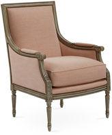 Massoud Furniture James Accent Chair, Blush Linen