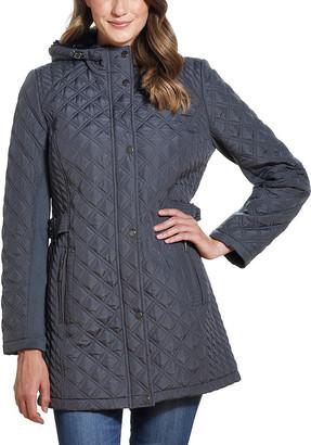 Weatherproof Women's Anoraks & Parkas GRAPHITE - Graphite Walker Faux Fur-Hooded Quilted Jacket - Women