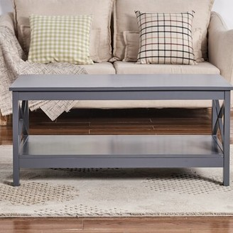 Beachcrest Home Wilder Coffee Table with Storage Color: Gray