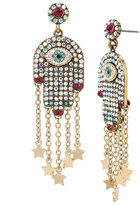 Betsey Johnson Mystic Baroque Hamsa Earrings