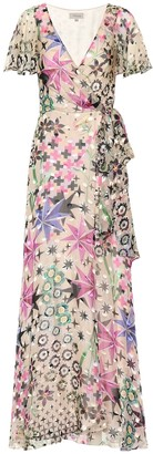 Temperley London Claudette chiffon wrap dress