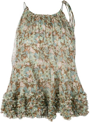 Stella McCartney Ruffled Floral Print Top