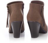 Wallis Brown Zip Ankle Boot
