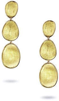 Marco Bicego Lunaria 18k Triple-Drop Earrings