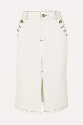 See by Chloe Denim Skirt - White