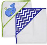 Neat Solutions 2-Pack Knit Terry Hooded Towel Set in Whale